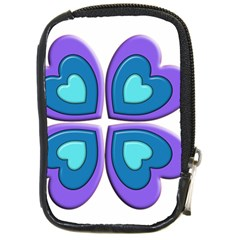 Light Blue Heart Images Compact Camera Cases