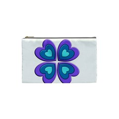 Light Blue Heart Images Cosmetic Bag (small)