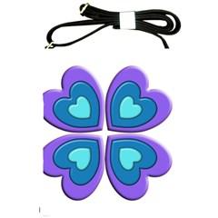 Light Blue Heart Images Shoulder Sling Bags