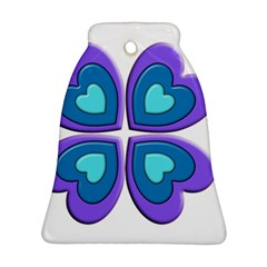 Light Blue Heart Images Bell Ornament (two Sides)