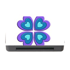 Light Blue Heart Images Memory Card Reader With Cf