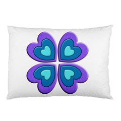 Light Blue Heart Images Pillow Case (two Sides)
