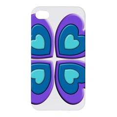 Light Blue Heart Images Apple Iphone 4/4s Hardshell Case