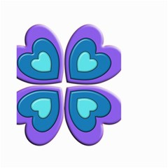 Light Blue Heart Images Small Garden Flag (two Sides)