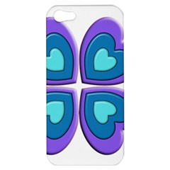Light Blue Heart Images Apple Iphone 5 Hardshell Case