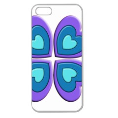 Light Blue Heart Images Apple Seamless Iphone 5 Case (clear)