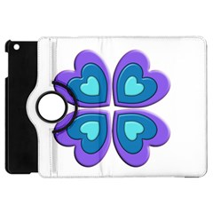 Light Blue Heart Images Apple Ipad Mini Flip 360 Case