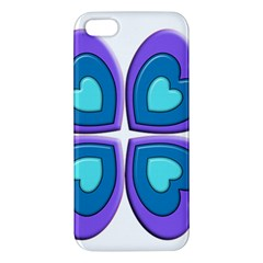 Light Blue Heart Images Apple Iphone 5 Premium Hardshell Case