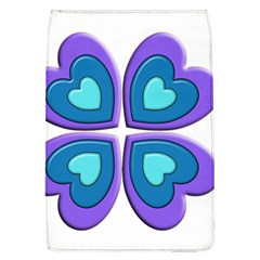 Light Blue Heart Images Flap Covers (l)