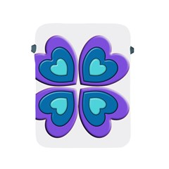Light Blue Heart Images Apple Ipad 2/3/4 Protective Soft Cases