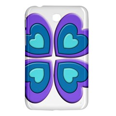Light Blue Heart Images Samsung Galaxy Tab 3 (7 ) P3200 Hardshell Case