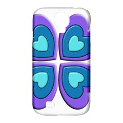 Light Blue Heart Images Samsung Galaxy S4 Classic Hardshell Case (pc+silicone)