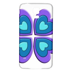Light Blue Heart Images Samsung Galaxy S5 Back Case (white)