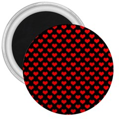 Love Pattern Hearts Background 3  Magnets