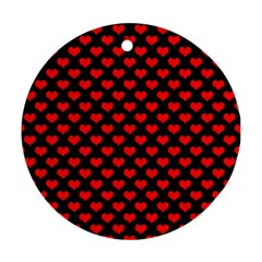 Love Pattern Hearts Background Ornament (round)