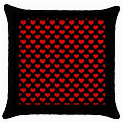 Love Pattern Hearts Background Throw Pillow Case (black)