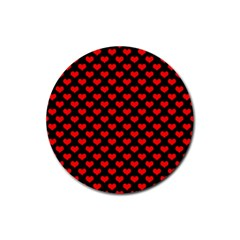 Love Pattern Hearts Background Rubber Round Coaster (4 Pack)