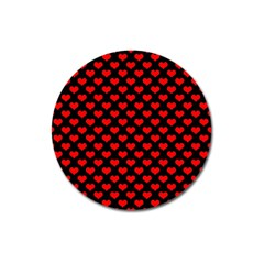 Love Pattern Hearts Background Magnet 3  (round)