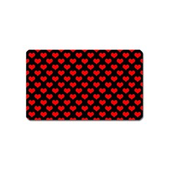 Love Pattern Hearts Background Magnet (name Card)