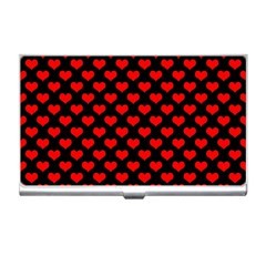 Love Pattern Hearts Background Business Card Holders