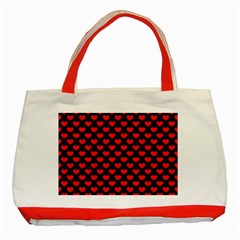 Love Pattern Hearts Background Classic Tote Bag (red)