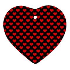 Love Pattern Hearts Background Heart Ornament (two Sides)