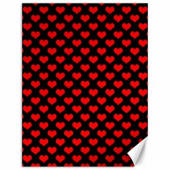 Love Pattern Hearts Background Canvas 12  X 16