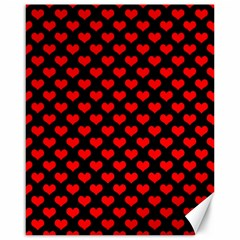 Love Pattern Hearts Background Canvas 16  X 20