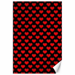 Love Pattern Hearts Background Canvas 20  X 30