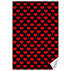 Love Pattern Hearts Background Canvas 24  X 36