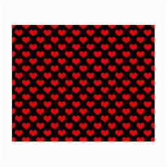 Love Pattern Hearts Background Small Glasses Cloth (2 Side)