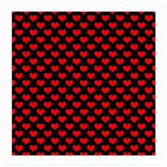Love Pattern Hearts Background Medium Glasses Cloth