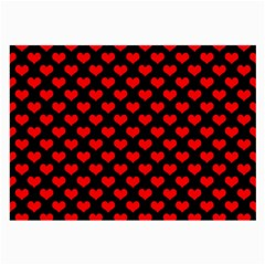 Love Pattern Hearts Background Large Glasses Cloth