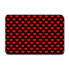Love Pattern Hearts Background Small Doormat