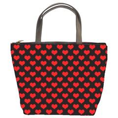 Love Pattern Hearts Background Bucket Bags