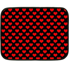 Love Pattern Hearts Background Fleece Blanket (mini)