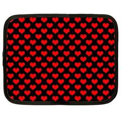Love Pattern Hearts Background Netbook Case (xxl)