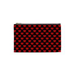 Love Pattern Hearts Background Cosmetic Bag (small)