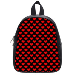 Love Pattern Hearts Background School Bags (small)