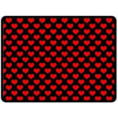 Love Pattern Hearts Background Fleece Blanket (large)