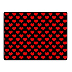 Love Pattern Hearts Background Fleece Blanket (small)
