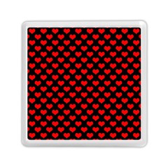 Love Pattern Hearts Background Memory Card Reader (Square)