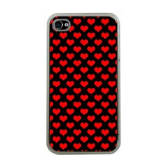 Love Pattern Hearts Background Apple Iphone 4 Case (clear)