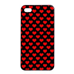 Love Pattern Hearts Background Apple Iphone 4/4s Seamless Case (black)