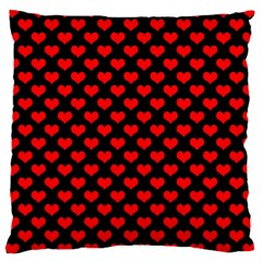 Love Pattern Hearts Background Large Cushion Case (one Side)