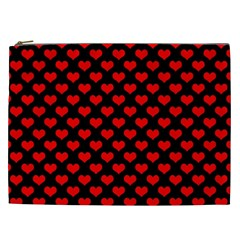 Love Pattern Hearts Background Cosmetic Bag (xxl)