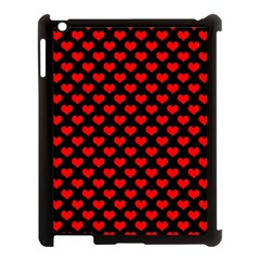 Love Pattern Hearts Background Apple Ipad 3/4 Case (black)