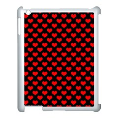 Love Pattern Hearts Background Apple Ipad 3/4 Case (white)