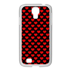 Love Pattern Hearts Background Samsung Galaxy S4 I9500/ I9505 Case (white)