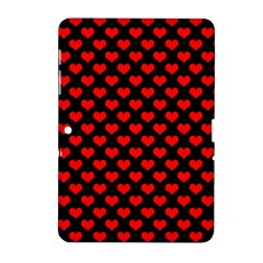 Love Pattern Hearts Background Samsung Galaxy Tab 2 (10.1 ) P5100 Hardshell Case